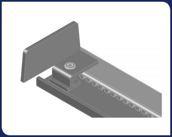 Steel Flow Rack Separator for Conventional Beams